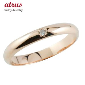 婚約指輪 ダイヤモンド リング ピンクゴールドk18 エンゲージリング 一粒 18金 ダイヤモンドリング ダイヤ ストレート 2.3|atrus