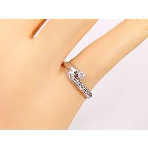 エンゲージリング プラチナ ダイヤモンド 婚約指輪 リング 指輪 ピンキーリング リング 一粒 ストレート|atrus|03