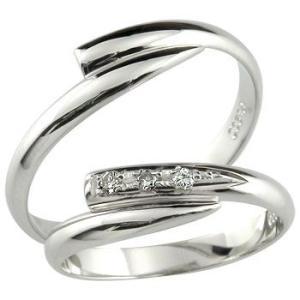 ペアリング プラチナ ダイヤモンド 甲丸 結婚指輪 マリッジリング 結婚式 ダイヤ ストレート カップル 2.3 宝石|atrus