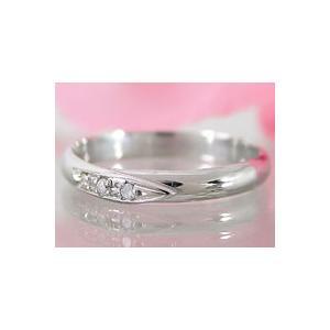 刻印 甲丸 ペアリング ホワイトゴールドk18 ダイヤモンド 結婚指輪 マリッジリング 結婚式 18金 ダイヤ ストレート カップル|atrus|02