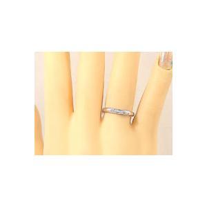 刻印 甲丸 ペアリング ホワイトゴールドk18 ダイヤモンド 結婚指輪 マリッジリング 結婚式 18金 ダイヤ ストレート カップル|atrus|04
