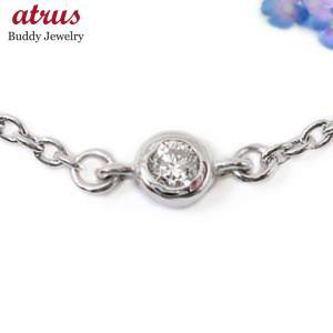 ブレスレット レディース ダイヤモンド プラチナ850ダイヤモンド 0.05ctプラチナ チェーン ダイヤ 送料無料|atrus