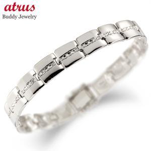 メンズ ダイヤモンド ブレスレット ホワイトゴールドK18 18金ダイヤ 男性用 宝石 送料無料 atrus