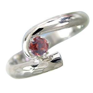 ピンキーリング アンティーク;ガーネット 指輪 プラチナリング 1月誕生石 ストレート 宝石 送料無料|atrus