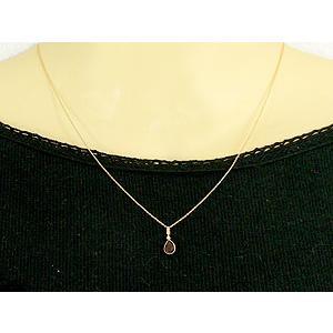 ガーネット ネックレス 一粒 ダイヤモンド ペンダント イエローゴールドk18 1月誕生石 ダイヤ 18金 レディース|atrus|03