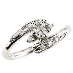 エンゲージリング プラチナ ダイヤモンド 婚約指輪 ピンキーリング リング 一粒 ストレート 宝石 atrus