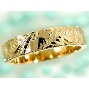 結婚指輪 ハワイアンペアリング プラチナ900 イエローゴールドk18PT900 k18結婚記念リング 地金リング 18金 k18yg ストレート カップル シンプル 人気|atrus|03