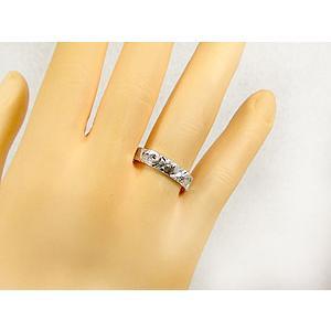 結婚指輪 ハワイアンペアリング プラチナ900 イエローゴールドk18PT900 k18結婚記念リング 地金リング 18金 k18yg ストレート カップル シンプル 人気|atrus|04