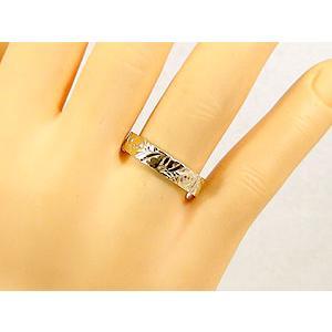 結婚指輪 ハワイアンペアリング プラチナ900 イエローゴールドk18PT900 k18結婚記念リング 地金リング 18金 k18yg ストレート カップル シンプル 人気|atrus|05