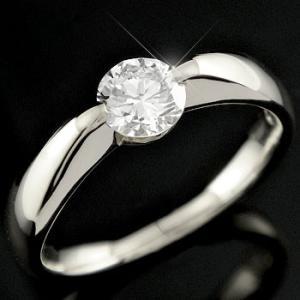 鑑定書付き 婚約指輪  エンゲージリング ダイヤモンド リング ハードプラチナリング 0.50ctVVS1クラス 一粒 大粒 ダイヤ ストレート|atrus