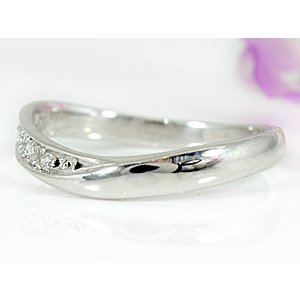 エンゲージリング プラチナ ダイヤモンド 婚約指輪 指輪 リング ダイヤ ストレート|atrus|03