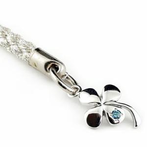 クローバー ストラップ ダイヤモンド 四つ葉 シルバー ダイヤ 宝石|atrus