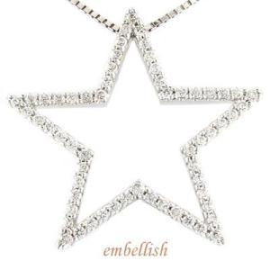 ネックレス プラチナ ダイヤモンド 星型ペンダント ダイヤ 宝石 送料無料|atrus