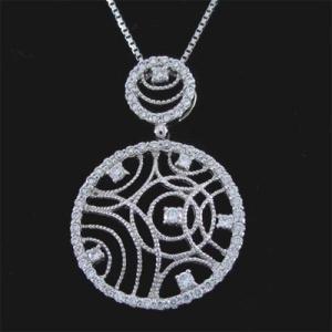 アンティーク調 ネックレス ダイヤモンド ホワイトゴールド ダイヤモンドペンダント ダイヤ 18金|atrus