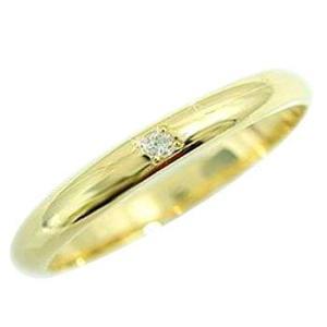 ダイヤモンド リング 指輪 ピンキーリング イエローゴールドk18 ストレートシンプル ダイヤ 18金 ストレート 2.3 レディース 宝石 最短納期|atrus