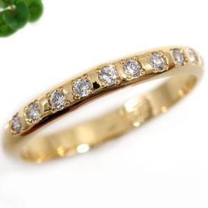 ダイヤモンド リング エンゲージリング 婚約指輪 ピンキーリング イエローゴールドk18 指輪 ダイヤモンド 0.10ct K18 18金 ダイヤモンドリング ダイヤ 2.3|atrussun
