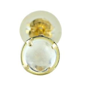 片耳ピアス ブルームーンストーンピアス イエローゴールドk18 スタッドピアス 18金 宝石 atrussun