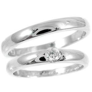 ペアリング プラチナ ダイヤモンド 結婚指輪 ソリティア 一粒 マリッジリング 結婚式 ダイヤ ストレート カップル|atrussun