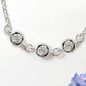 ブレスレット ダイヤモンド ダイヤモンド 0.15ct ホワイトゴールドK18 18金 チェーン ダイヤ レディース 送料無料|atrussun