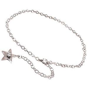 ブレスレット ダイヤモンド スター 星 ダイヤモンド 0.10ct ホワイトゴールドK18 一粒 18金 チェーン ダイヤ レディース 送料無料|atrussun
