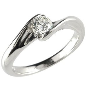 エンゲージリング プラチナ ダイヤモンド 鑑定書付き 婚約指輪 0.30ct 一粒 大粒 ダイヤ SI ダイヤ ストレート 2.3 宝石|atrussun