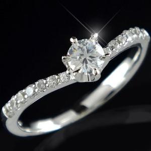 鑑定書付き 婚約指輪 エンゲージリング ダイヤモンド リング ホワイトゴールドK18 結婚指輪 一粒 大粒 SI ダイヤ 18金 ストレート|atrussun