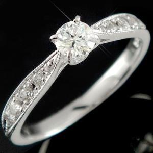 鑑定書付き 婚約指輪 エンゲージリング ダイヤモンド リング ホワイトゴールドK18 結婚指輪 一粒 大粒 SI ダイヤ 18金 ストレート 宝石|atrussun