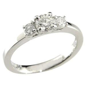 鑑定書付き 婚約指輪 エンゲージリング ダイヤモンド リング ホワイトゴールドK18 結婚指輪 一粒 大粒 SI ダイヤ 18金 ストレート 2.3|atrussun