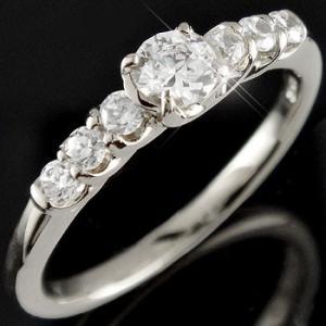 エンゲージリング プラチナ ダイヤモンド 鑑定書付き 婚約指輪 0.53ct 一粒 大粒 SI ダイヤ ストレート|atrussun