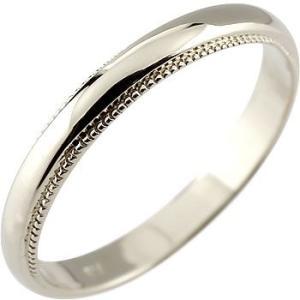 メンズ 指輪 ホワイトゴールドk18 リング ピンキーリング...
