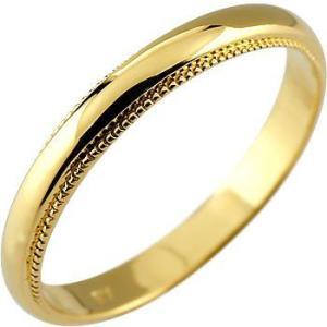 メンズ 指輪 イエローゴールドk18 リング ピンキーリング...