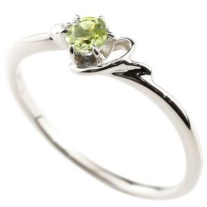 イニシャル ネーム Y ピンキーリング ペリドット ダイヤモンド 華奢リング ホワイトゴールドk18 指輪 アルファベット 18金 レディース 8月誕生石 人気|atrussun