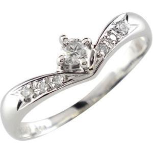 婚約指輪 安い エンゲージリング プラチナ ダイヤモンド 婚約指輪 一粒0.16ct リング ダイヤ ストレート  プレゼント 女性 送料無料|atrusyume