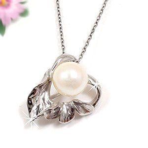 パール 真珠 フォーマル ハート アコヤ 本真珠 ネックレス トップ 一粒パール ホワイトゴールドk18 18k ハート チェーン 18金 レディース 女性|atrusyume