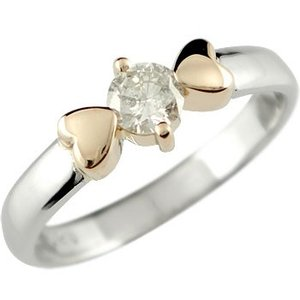 婚約指輪 安い 婚約指輪 エンゲージリング プラチナ ダイヤモンド 一粒 大粒 ハート ピンクゴールドk18 18金 ダイヤモンドリング ダイヤ ストレート  女性|atrusyume