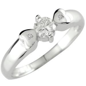 エンゲージリング 婚約指輪 ダイヤモンドリング ホワイトゴールドK18 指輪 一粒 ダイヤ大粒0.28ct ハート 18金 ダイヤ ストレート 宝石  女性 送料無料|atrusyume