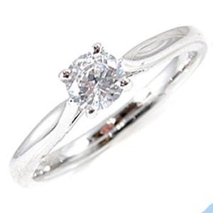 鑑定書付き 婚約指輪 指輪 ダイヤモンドリング エンゲージリング ホワイトゴールドk18 一粒 大粒 0.30ct SI ダイヤ 18金 ストレート 宝石 送料無料|atrusyume