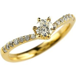 鑑定書付き ダイヤモンド 婚約指輪 エンゲージリング リング イエローゴールドK18 結婚指輪 一粒 大粒 SI 18金 ダイヤ ストレート 送料無料|atrusyume