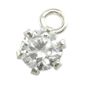 ダイヤモンド パーツ ピアス用 イヤリング用 片耳用 一粒ダイヤ 0.10ct ホワイトゴールドk18 18金