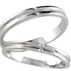 マリッジリング プラチナ 結婚指輪 ペアリング クロス 結婚...