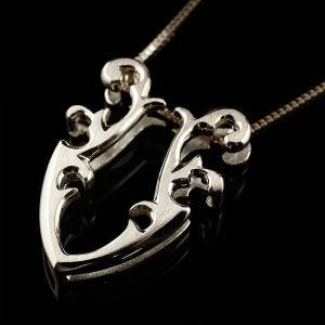 メンズ 馬蹄 ホワイトゴールドk10 ネックレス トップ  ペンダント ホースシュー 蹄鉄 アンティーク風 10金 チェーン 人気 バテイ 男性用  シンプル 送料無料|atrusyume