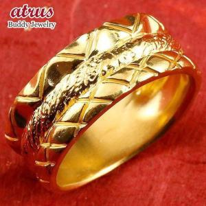 24金 指輪 メンズ 純金 リング 幅広 k24 24k ゴールド ピンキーリング 重ね付けデザイン...