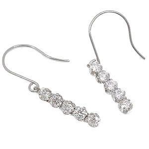 ピアス プラチナ シンプル ダイヤモンド スート10 ダイヤモンド 0.50ct フック レディース ダイヤ 天然石 宝石 送料無料 人気|atrusyume