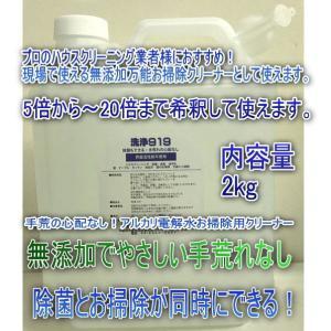 お掃除クリーナー2kg 洗浄919 除菌と汚れ落とし 超万能エコお掃除!アルカリ電解 高濃度 油汚れ、たばこのヤニ、除菌効果、消臭効果 お掃除!