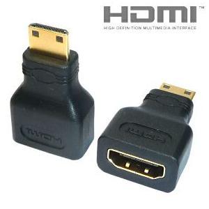 HDMI A メス/ミニHDMI C オス HDMIケーブル 変換アダプタ【DM便なら送料無料】 ats