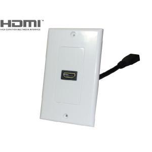 HDMI Aタイプ 19P メス 中継ケーブル ウォールプレートセット【DM便なら送料無料】