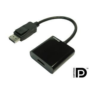 Displayport 20P オス to HDMI A 19P メス 変換アダプタケーブル 0.2m Active (アクティブ)タイプ【DM便なら送料無料】|ats