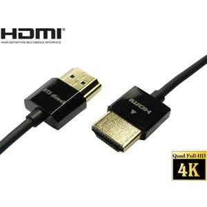 HDMIケーブル ハイスピードイーサネット 0.5m スーパースリム 4K2K 60P 4.4.4 フル4K対応 【DM便なら送料無料】|ats