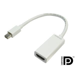 4K対応可 Mini Displayport 20P オス to HDMI A 19P メス 変換アダプタケーブル 0.2m【DM便なら送料無料】|ats