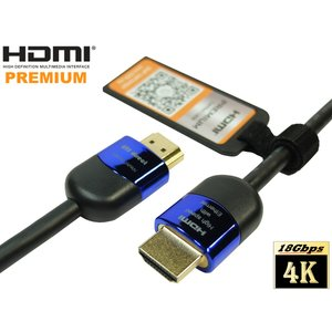 4K2K 60P 4.4.4 24bit 18Gbps HDR保証 プレミアム HDMIケーブル 2m High speed with ethernet 【AWG30】 Ver2.0 プレミアムHDMI認証 ★DM便送料無料★|ats